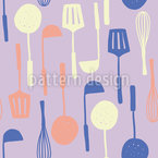My Kitchen Utensils Seamless Vector Pattern Design