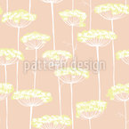 Fennel Blossoms Seamless Vector Pattern Design