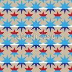 Stripes And Stars Seamless Vector Pattern Design