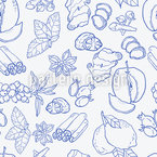 Winter Tea Potpourri Seamless Vector Pattern Design