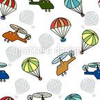Fallschirm Nahtloses Vektormuster