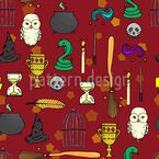 The Sorcerers Cabinet Seamless Vector Pattern Design
