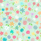 Field Of flowers Vector Ornament