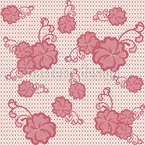 Lace Hibiscus Seamless Pattern