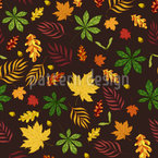 I Like Leaves Seamless Vector Pattern Design