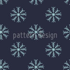 Snow Is Falling Seamless Vector Pattern Design