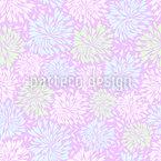 Chrysanthemen Feuerwerk Nahtloses Vektormuster