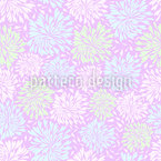 Chrysanthemum Firework Seamless Vector Pattern Design
