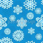 Cool de nieve Estampado Vectorial Sin Costura