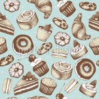 Vintage Bakery Seamless Vector Pattern Design