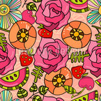 Flowers And Fruits Seamless Pattern