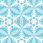 Crystal Clear Paper Cut Seamless Vector Pattern Design