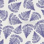Farn Blatt Nahtloses Vektor Muster