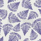 Fern Leaf Seamless Vector Pattern