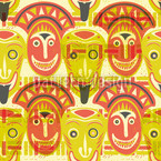 Popocatepetls Friends Seamless Vector Pattern Design