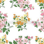 Mille Fleurs Aus Frankreich Nahtloses Vektormuster