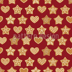 Gingerbread Seamless Vector Pattern Design