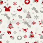 Christmas Is Here Seamless Vector Pattern Design