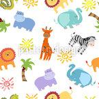 Afrikanische Tiere Nahtloses Vektormuster