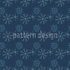 Snowflakes At Night Seamless Vector Pattern