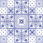 Classic Tiles Seamless Vector Pattern Design