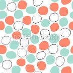 Floating Dots Seamless Vector Pattern Design