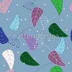 Interessante Blätter Nahtloses Vektormuster