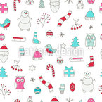 Christmas Dreams Seamless Vector Pattern Design
