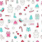 Les rêves de Noël Motif Vectoriel Sans Couture