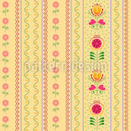 Florets and Tulips Seamless Vector Pattern Design