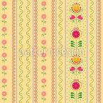 Röschen und Tulpen Nahtloses Vektormuster