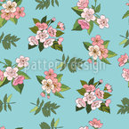 Cherry Blossoms Seamless Vector Pattern Design