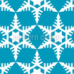 Cut Out Snowflakes Seamless Vector Pattern Design