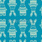 Funny Rabbit Seamless Vector Pattern Design
