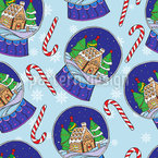 Christmas Snow Globes Seamless Vector Pattern Design