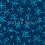 Snowflake Doodles Repeating Pattern