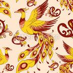 Feuervogel Nahtloses Vektormuster