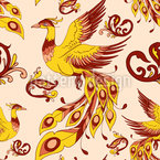 Firebird Seamless Vector Pattern Design