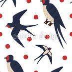 Fliegende Schwalben Rapportmuster