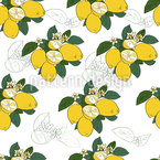 Lemons Seamless Vector Pattern Design