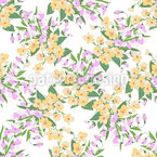 Romantic Mille Fleurs Seamless Vector Pattern Design