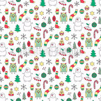 Winter Fun With Mr Snowman Vector Pattern