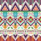 Aztekische Stammeskunst Nahtloses Vektormuster