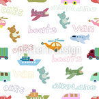 Vehicles Seamless Vector Pattern Design