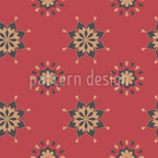 Geo Flowers Vector Ornament
