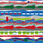 The Ways Of Stripes And Waves Seamless Vector Pattern