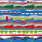 Os caminhos das listras e ondas Design de padrão vetorial sem costura