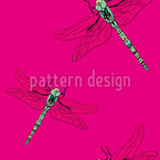 My Dragonfly Seamless Vector Pattern Design