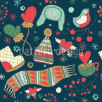 How To Get Through The Winter Seamless Vector Pattern Design