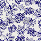 Hhoublon dessiné Motif Vectoriel Sans Couture